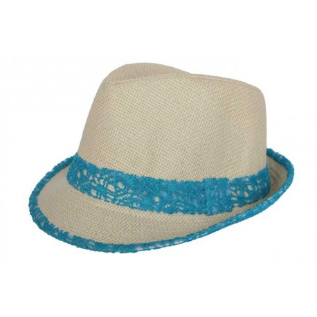 Trilby Whistler Beige et Turquoise