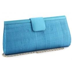Pochette Mariage Sabine en sisal Turquoise