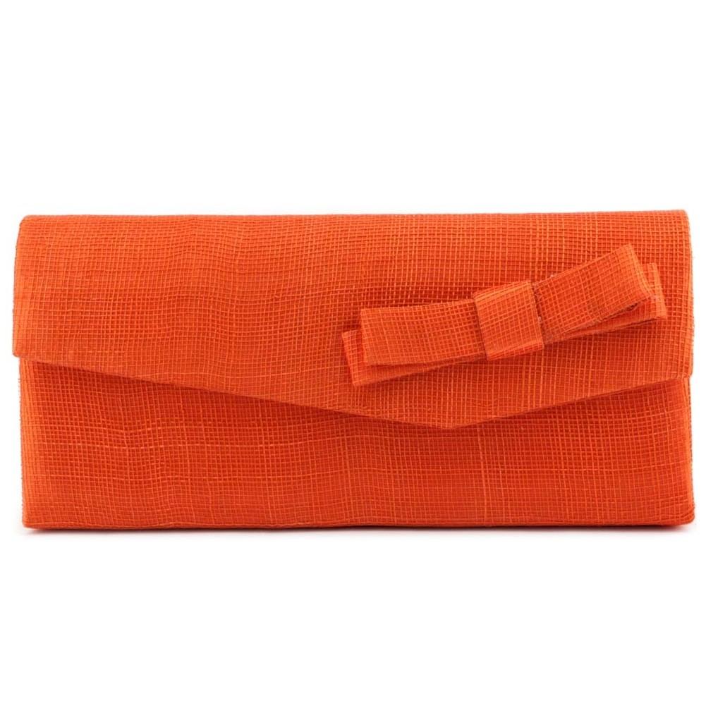 Favori Pochette Mariage Orange - Pochette cérémonie Lucie en sisal  TN58