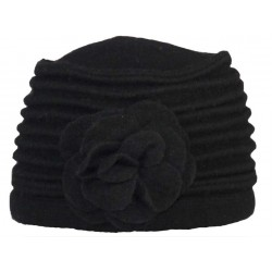 Bonnet Toque Herman Headwear Laine Noir Lady Sophie