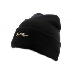 Bonnet à Revers Hype Just Gold Noir