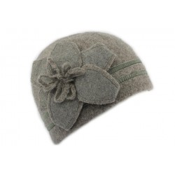 Bonnet Femme laine bouillie Gris clair