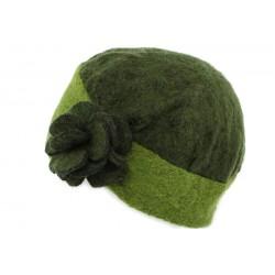 Toque laine bouillie Lydia Léon Montane Vert Kaki et clair