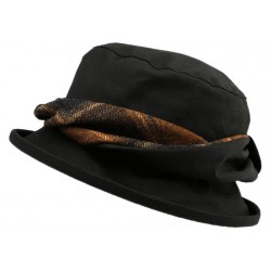 Chapeau Pluie Emma Olney Headwear Noir