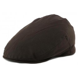 Casquette Plate Christys' London Coton Huilé Marron