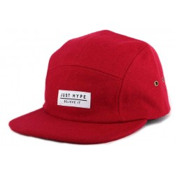 Casquette 5 panel Hype Wool Rouge