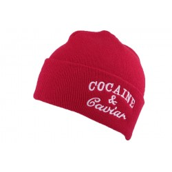 Bonnet Rouge à revers JBB Couture