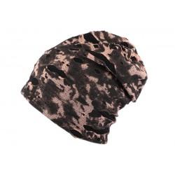 Bonnet Oversize Camouflage Noir Nyls Création