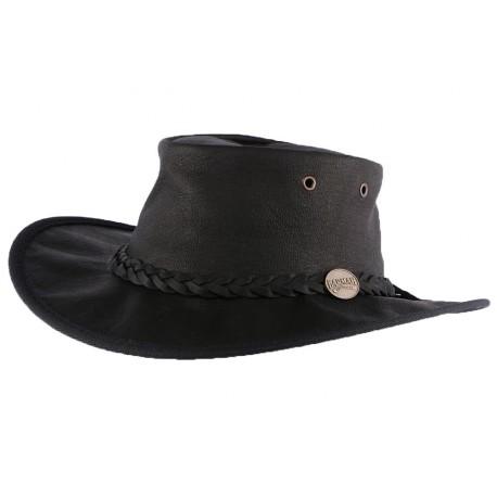 Chapeau Cuir Noir Sundowner Barmah Hats