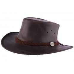 Chapeau Cuir Marron Brady Oil par Barmah Hats