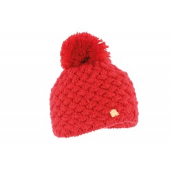 Bonnet à pompon Ice Rouge