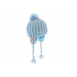 Bonnet Péruvien Bébé Bleu Ciel En Laine RMountain