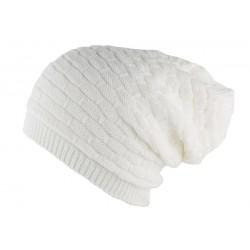 Bonnet Rasta Blanc en laine Ben Nyls Création
