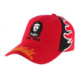 Casquette Baseball Rouge Che Guevara