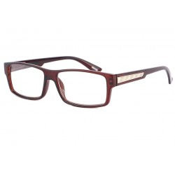 Lunettes Loupe Rectangulaire Homme Marron Must + 2 Dioptries