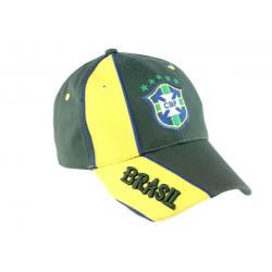 Casquette Baseball Brésil CBF Verte et Jaune
