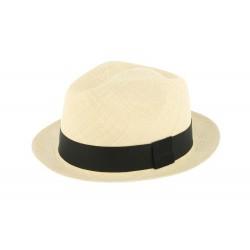 Chapeau Panama Garret Naturel et Noir Herman 1874