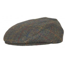 Leonmontane Casquette British marron rayé or