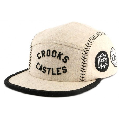 Casquette 5 Panel Crooks and Castles Players Ghost Beige