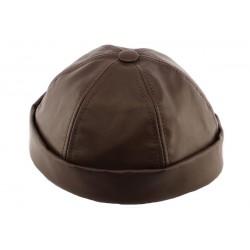 Bonnet docker Cuir Marron Aussie Apparel