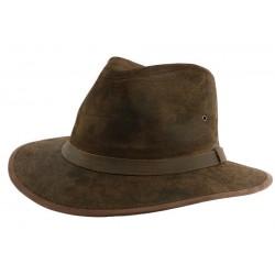 Chapeau Cuir Marron Flinder par Aussie Apparel