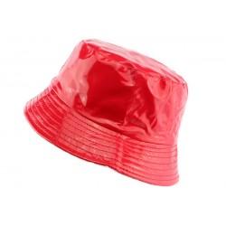 Chapeau de pluie Rouge Brillant Maud par Nyls Creation