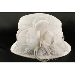Chapeau Mariage Blanc Jeda en paille sisal