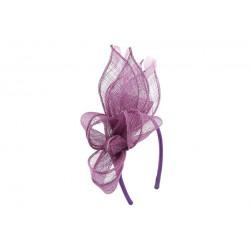 Coiffe Mariage Violette Rubis en sisal