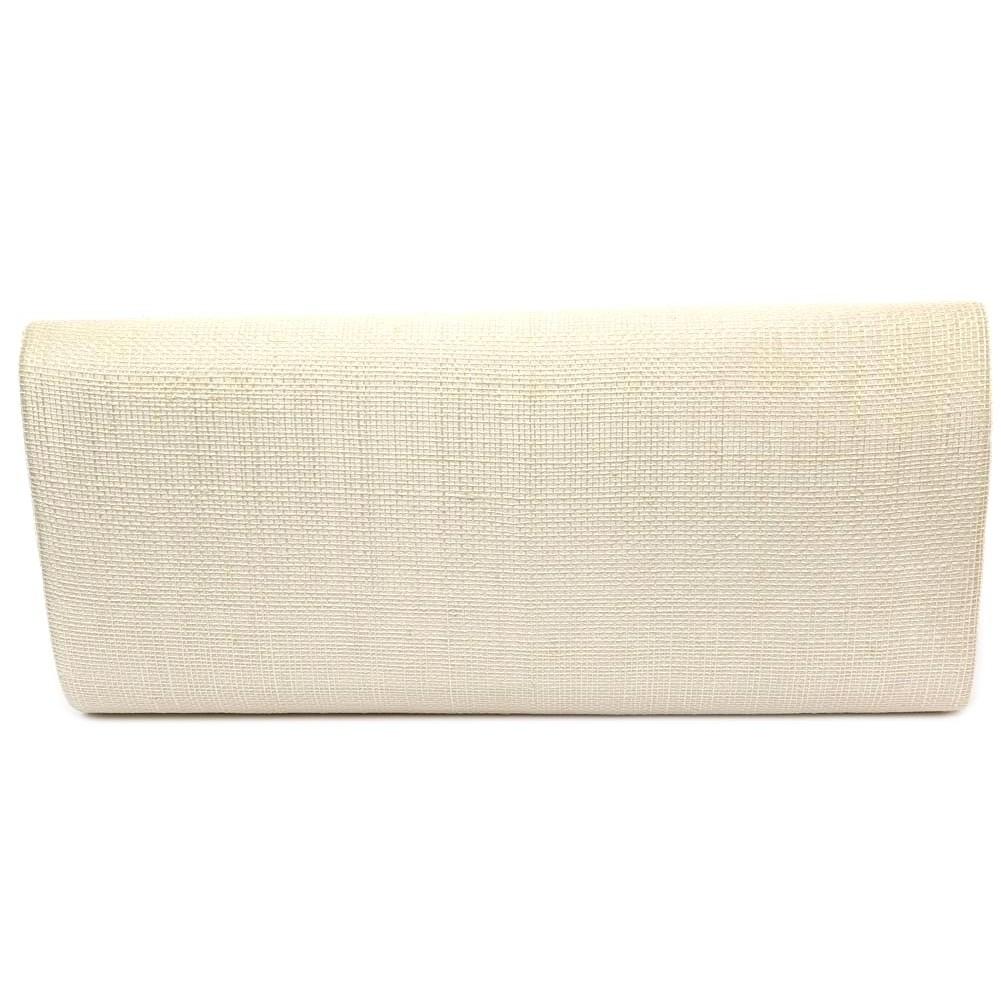 pochette mariage ivoire ilka en sisal - Pochette Mariage Ecru