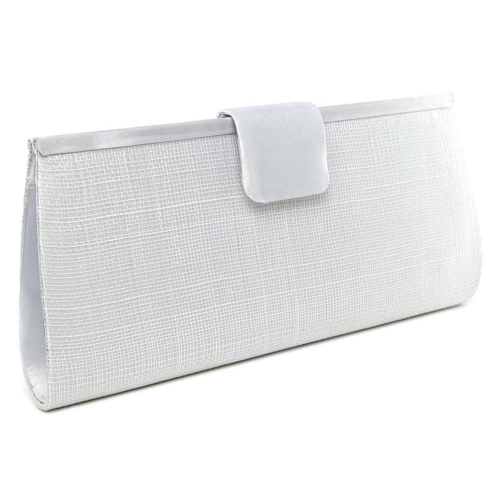 pochette mariage blanche en sisal sabine - Pochette Argente Mariage