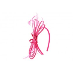 Coiffe Mariage Rose Fuchsia Sybel