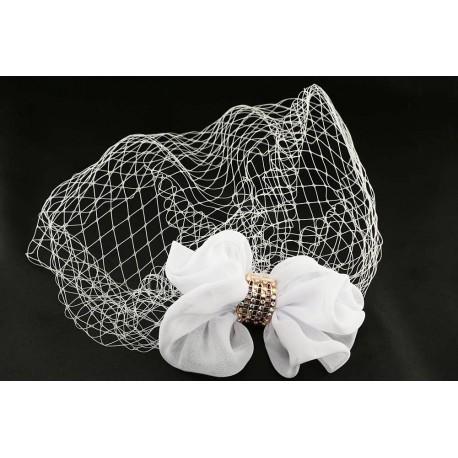Accessoire cheveux mariage coiffe blanche Bijoux