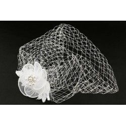 Acessoires cheveux mariage blanc avec fleurs