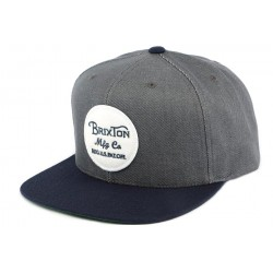 Snapback Brixton Grise bleu avec visière marine