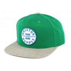 Snapback Brixton OATH III Verte et Grise