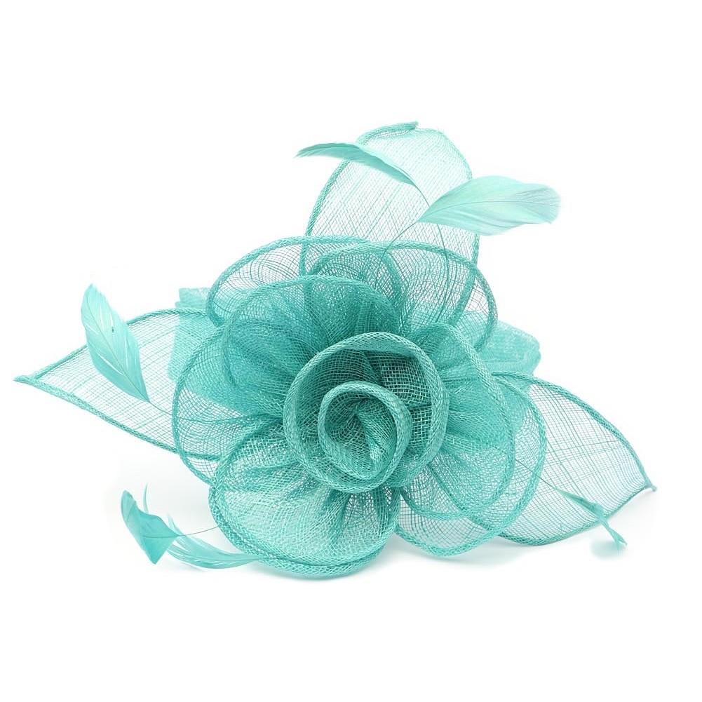 chapeau mariage turquoise serre tte - Serre Tete Chapeau Mariage