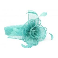 Chapeau Mariage Turquoise Serre tête Figue