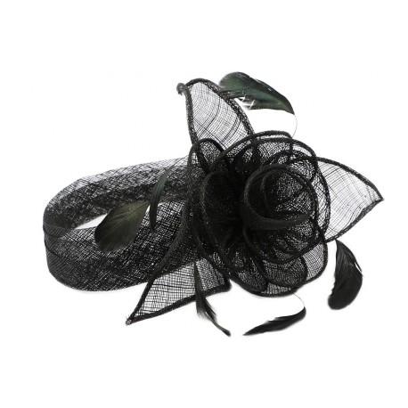 chapeau mariage noire serre tte figue - Serre Tete Chapeau Mariage