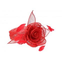 Chapeau Mariage Rouge Serre Tête Figue