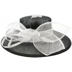 Chapeau Mariage Noir et Blanc méli Mélo