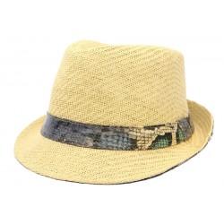 Chapeau de Paille Beige Python