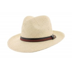 Chapeau paille Naturel et Marron Zory Herman Headwear