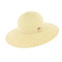 Chapeau paille Naturel Serena par herman Headwear