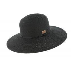Chapeau paille Noir Serena par Herman headwear