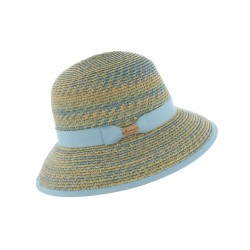 Chapeau paille Bleu Laura Herman Headwear