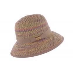 Chapeau paille Mauve Laura Herman Headwear