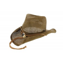 Chapeau Cowboy paille Marron Herman Headwear