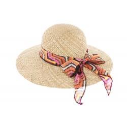 Chapeau paille naturel été Clara Herman headwear