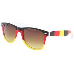 Lunettes de soleil Allemagne Noire Rouge Jaune