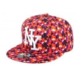 Snapback NY Orange et Violette Vintage 70s
